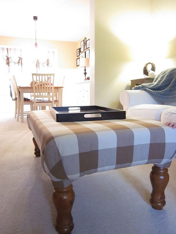 DIY Tutorial: Coffee Table into Upholstered Ottoman/Cocktail Table ...