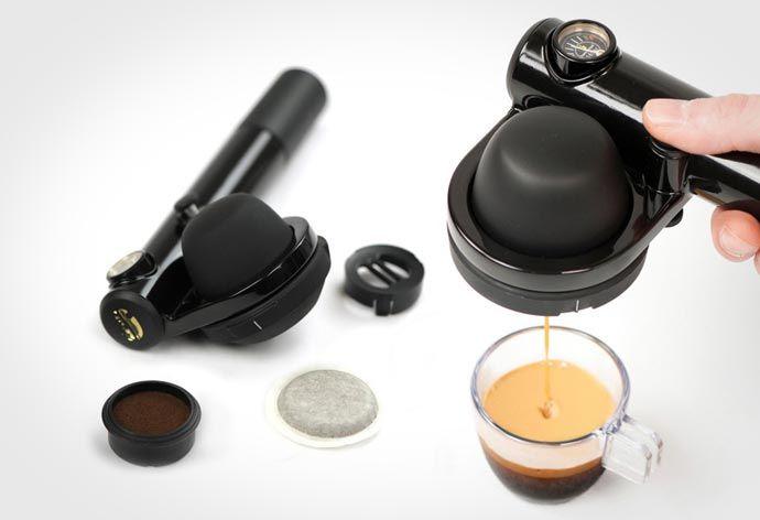 Handpresso Wild Ese - Portable Espresso Machine. Anytime...anywhere... Read more at jebiga.com #handpresso #espressomachine #design #coolproduct