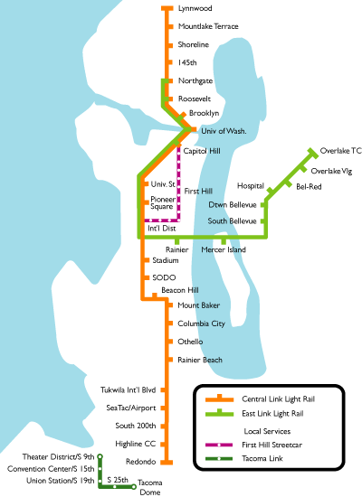 seattle light rail map soundtransit seattle light rail
