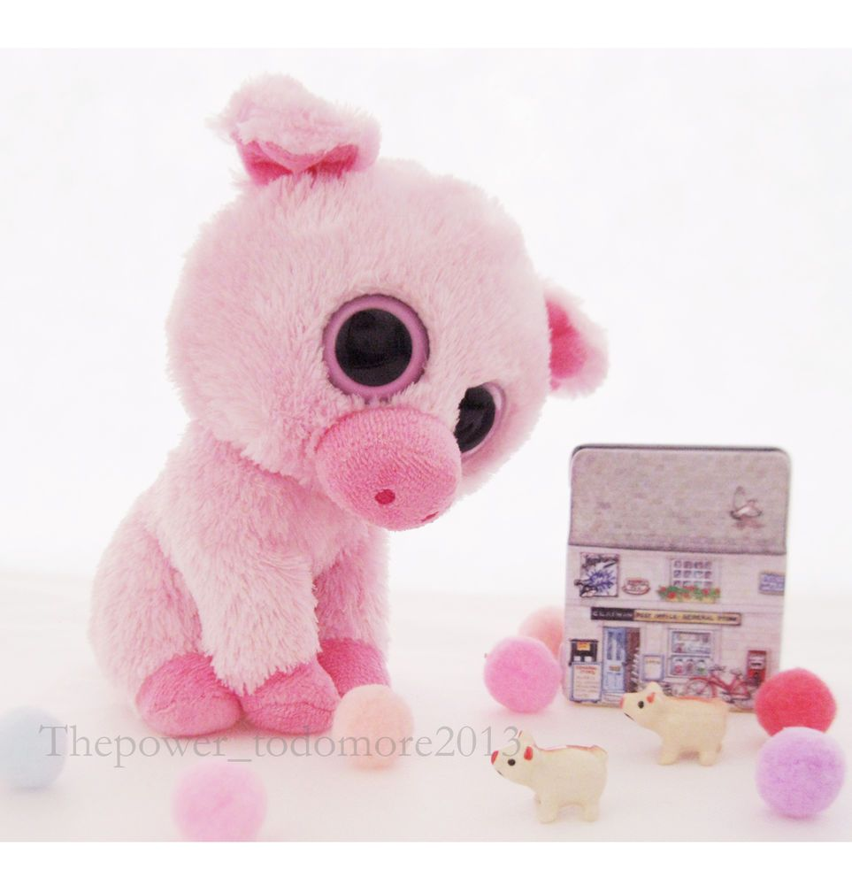 3016c440320 Cute Ty Beanie Boos Rare Corky The Pig Big Eyed Pink 6