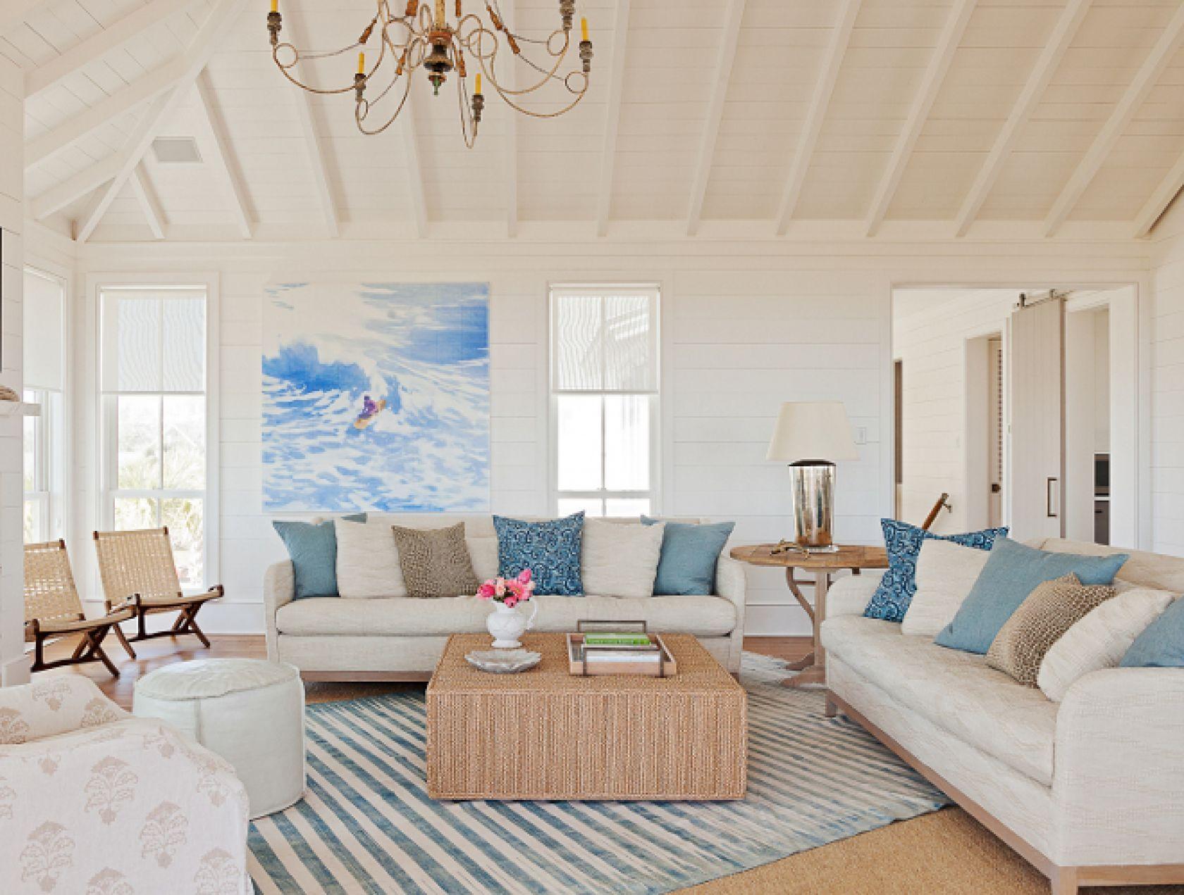Sullivan\'s Island Beach House Living Room   Ideas for the Bay House ...