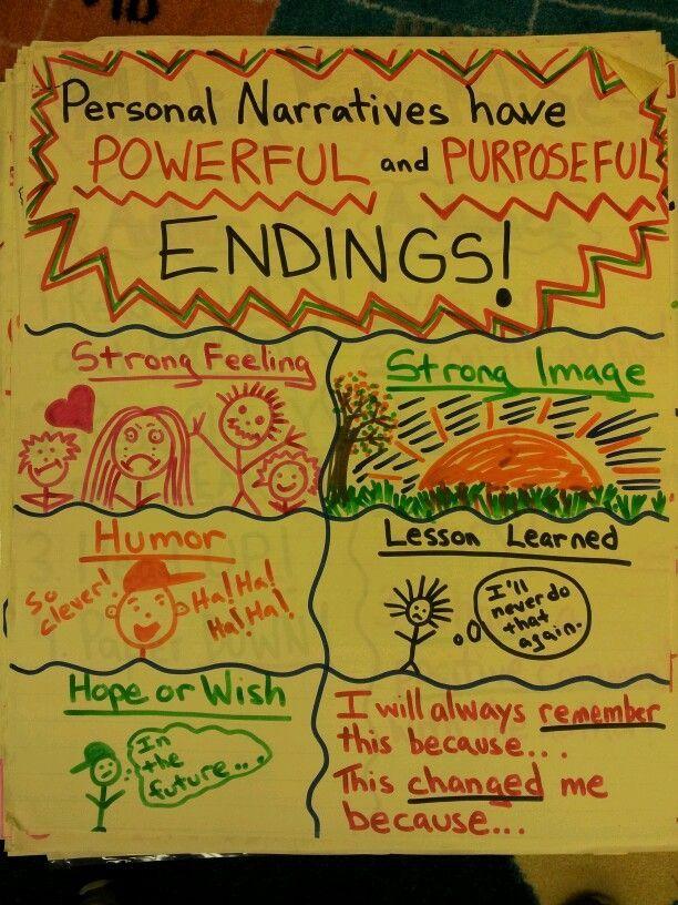 Personal Narrative Endings Charting Like A Champ Writing