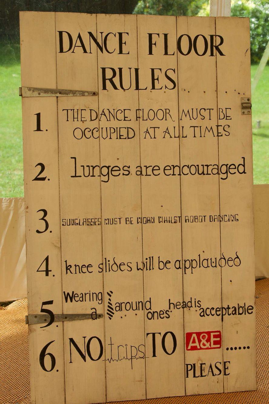 Dance Floor Rules Sign At My Wedding Random Stuff Pinterest