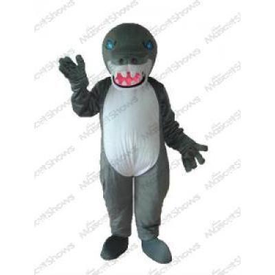 Costume de Mascotte de Gris Requin