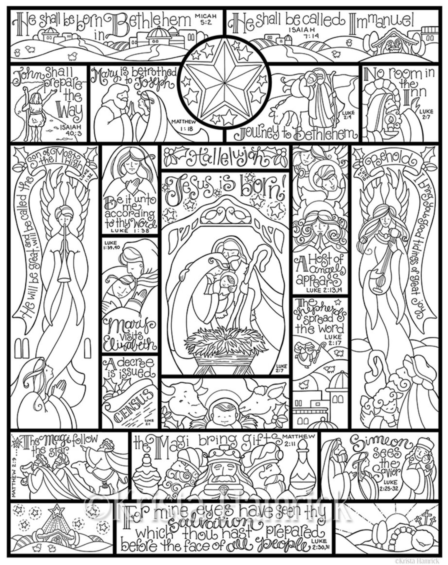 Pin by HALA S Boules on Nativity | Pinterest | Coloring books and ...