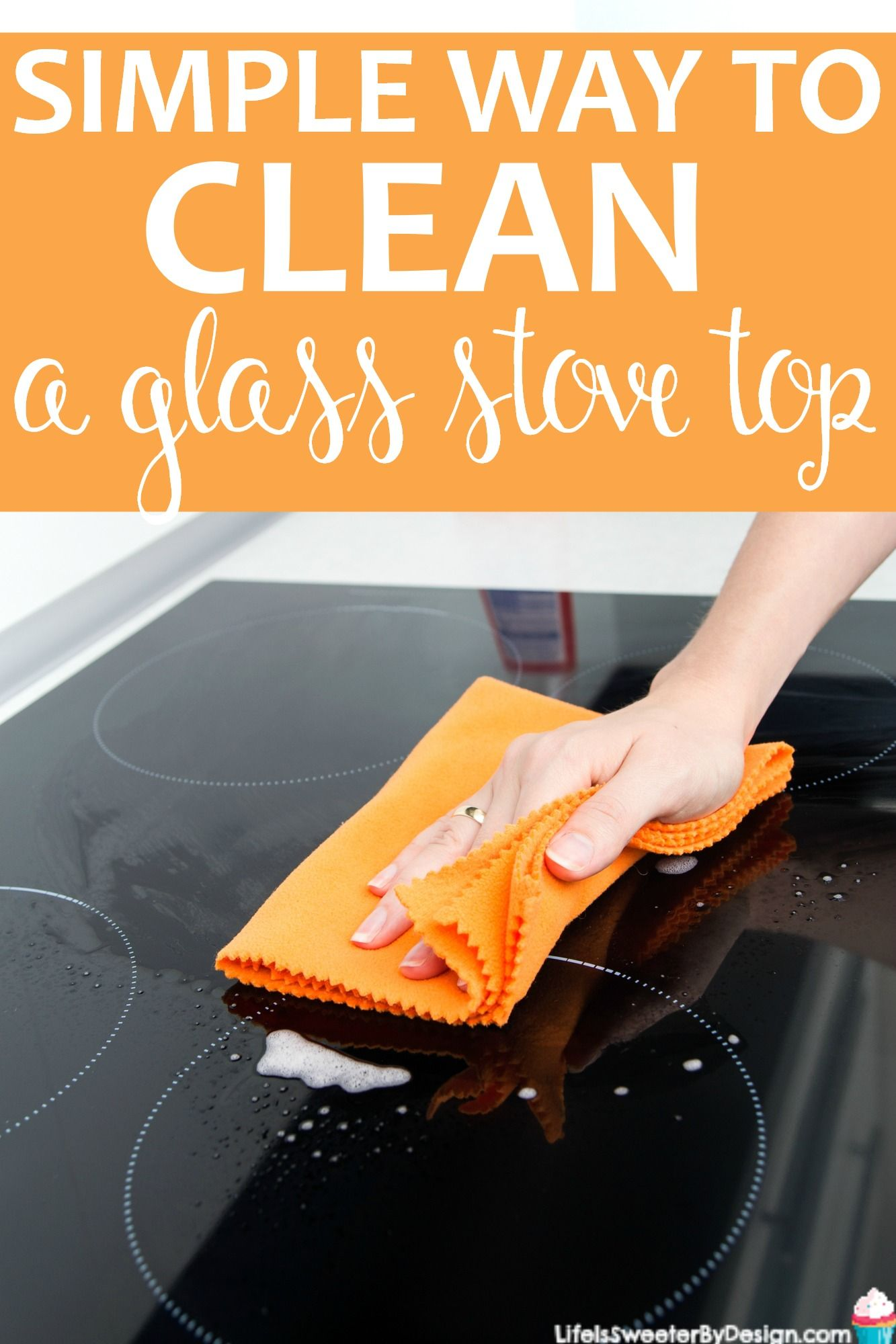 Easy way to clean a glass top stove and keep it sparkling