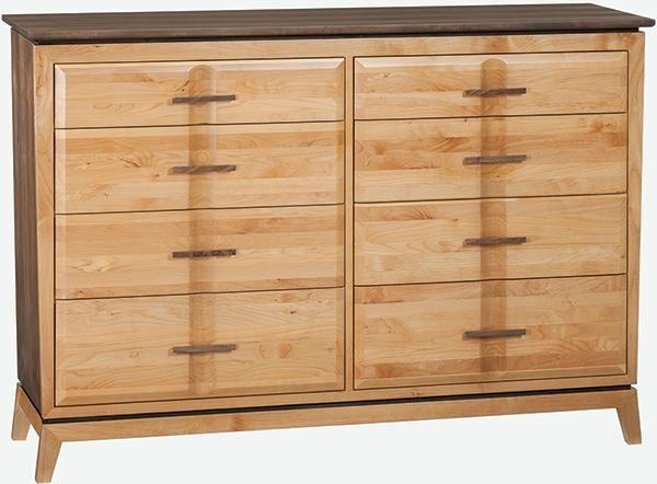 Superbe Alder And Black Walnut Addison Low Dresser | Saah Furniture