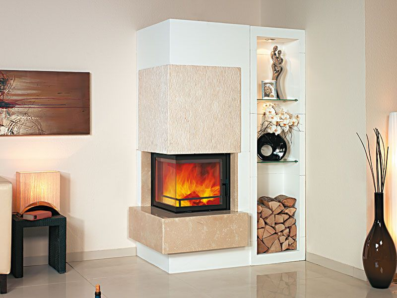 chimenea de le a moderna hogar cerrado de esquina studio hark gmbh co kg. Black Bedroom Furniture Sets. Home Design Ideas