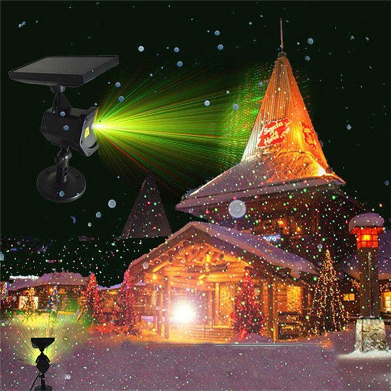 Solar Power Led Laser Projector Chrismas Laser Fairy Lights Projection Waterproof Outdoor Spotlight Garden Decor Lamp Review Solar Christmas Lights Outdoor Solar Led Christmas Lights