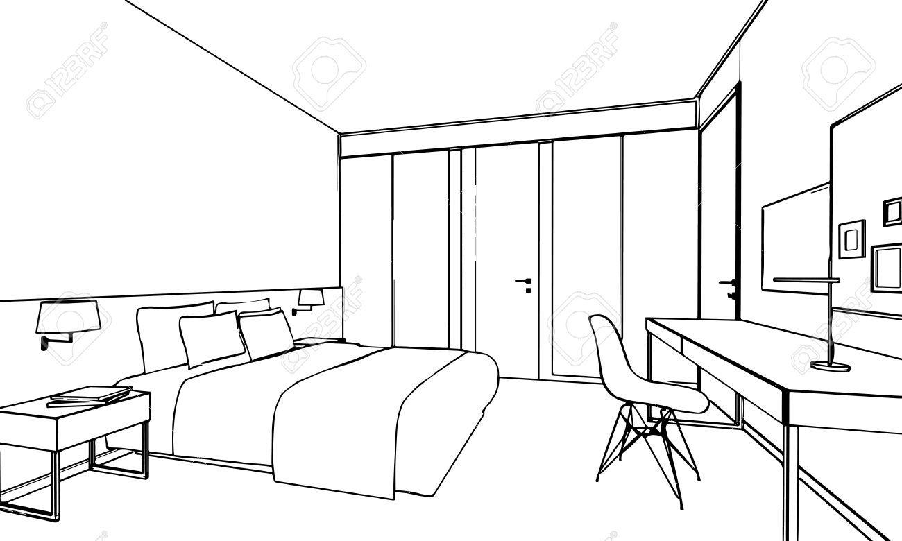 Stock Photo Innenarchitektur zeichnung, Interior design