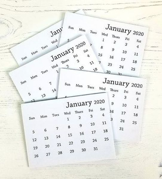 4 MINI 2021 MINI CALENDAR PADS MONTHLY TEAR OFF PAGES BACK PAGE IS BLANK CRAFTS