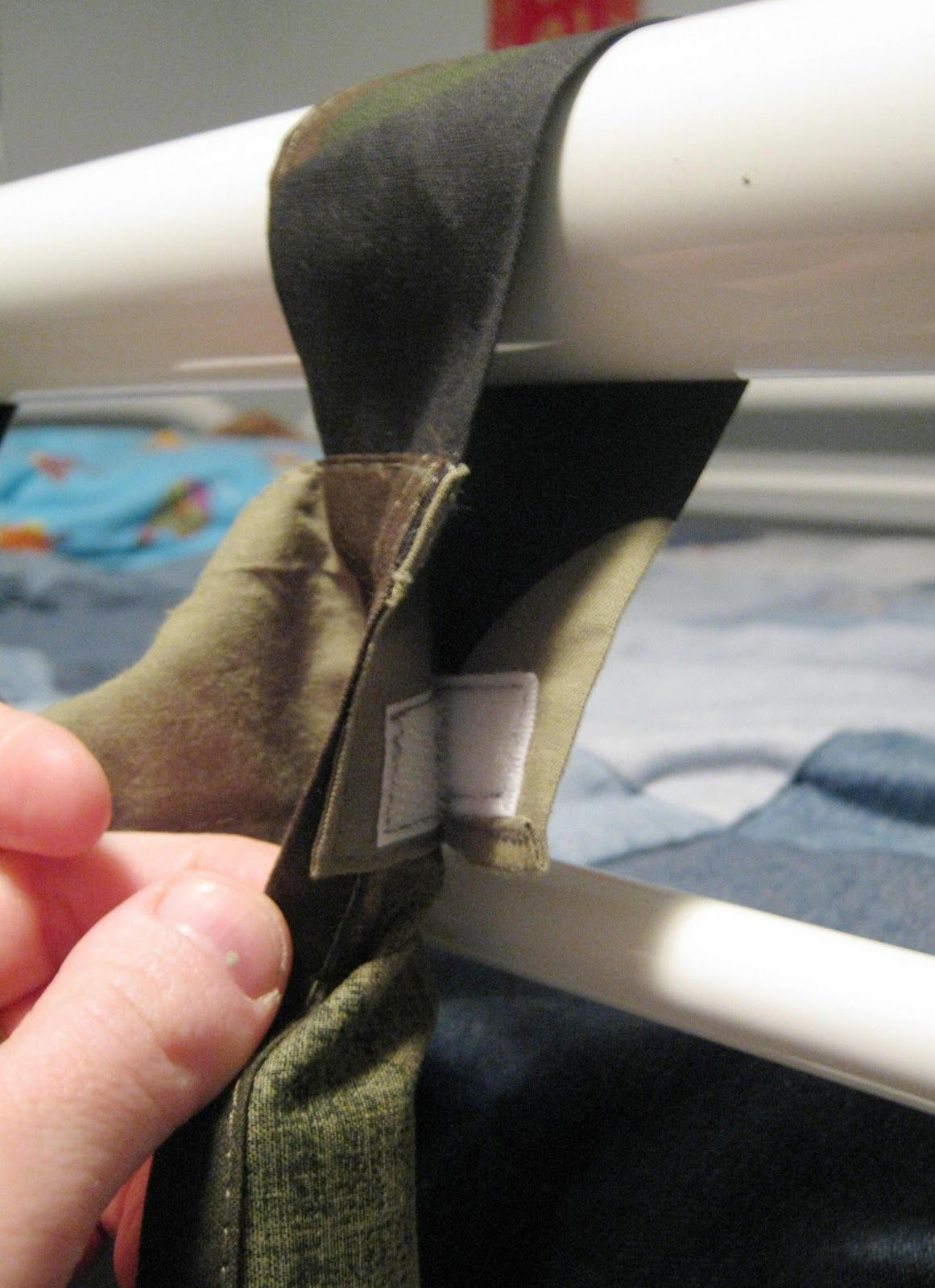 For Loft Bed Curtains, Cut And Add Velcro!