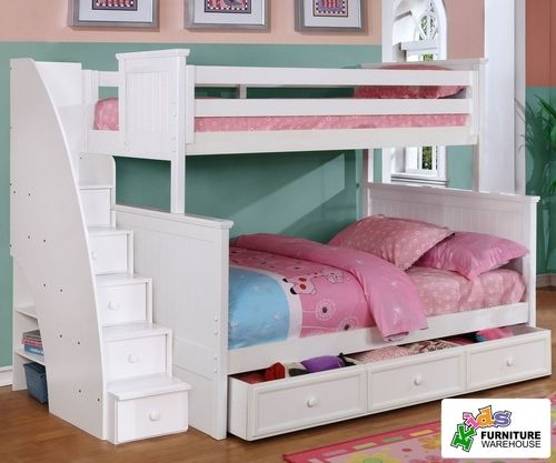 Best Allen House Chatham Twin Over Full Bunk Bed With Stairs 640 x 480