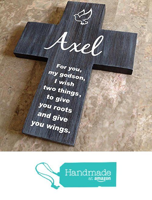 Godson cross personalized with his name on pine wood w dove custom order for moon godson cross personalized with his name on pine wood w dove roots wings baptism easter birthday first communion or any event negle Images
