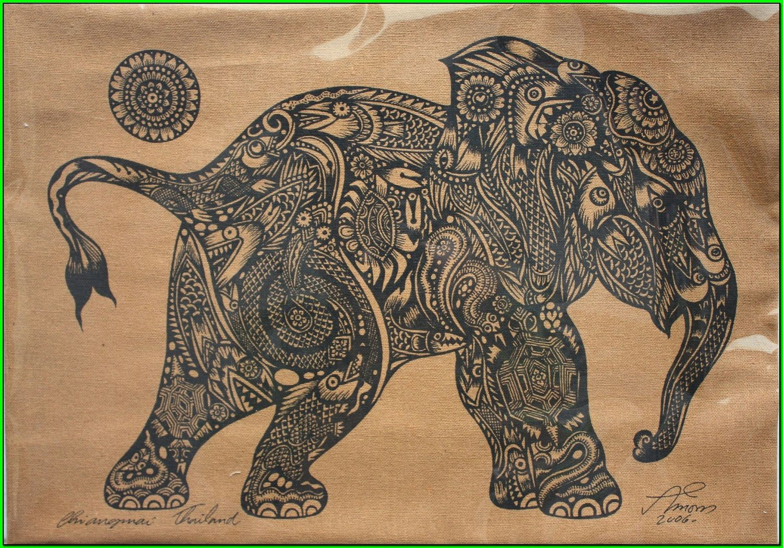 Traditional Thai Elephant Tattoo Design Tattoos Pinterest