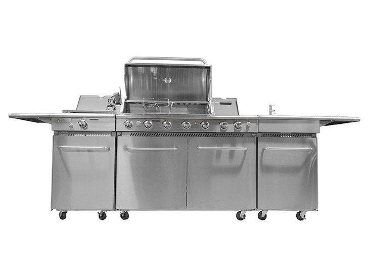 Cucina da esterno a gas con barbecue CKW MASTER | Cucina da esterno ...