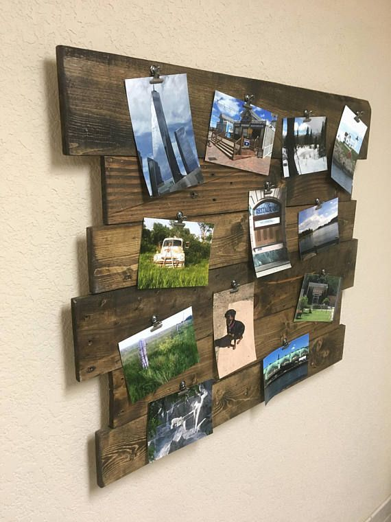 Photo board, Picture Board, Photo memory board, Memory board, Wooden decor, Picture collage, picture frame, reclaimed wood, Wood decoration #oldpalletsforcrafting