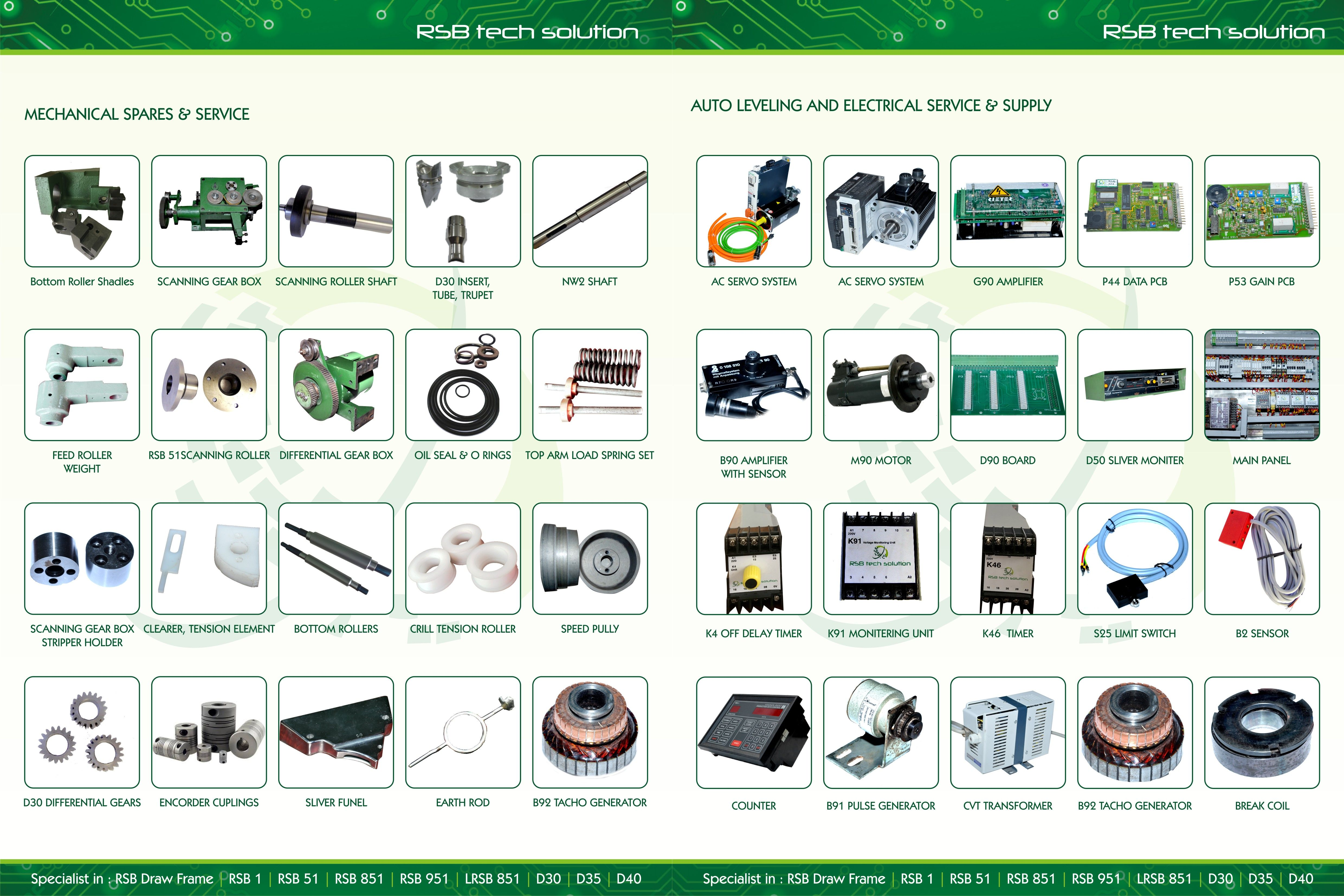 RSB Tech Solution Mechanical Spares, Auto Leveling and