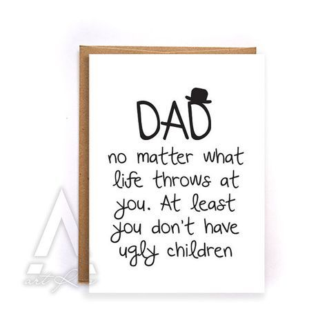 Fathers day card from kids fathers day card funny by artruss fathers day card from kids fathers day card funny greeting cards birthday bookmarktalkfo Image collections