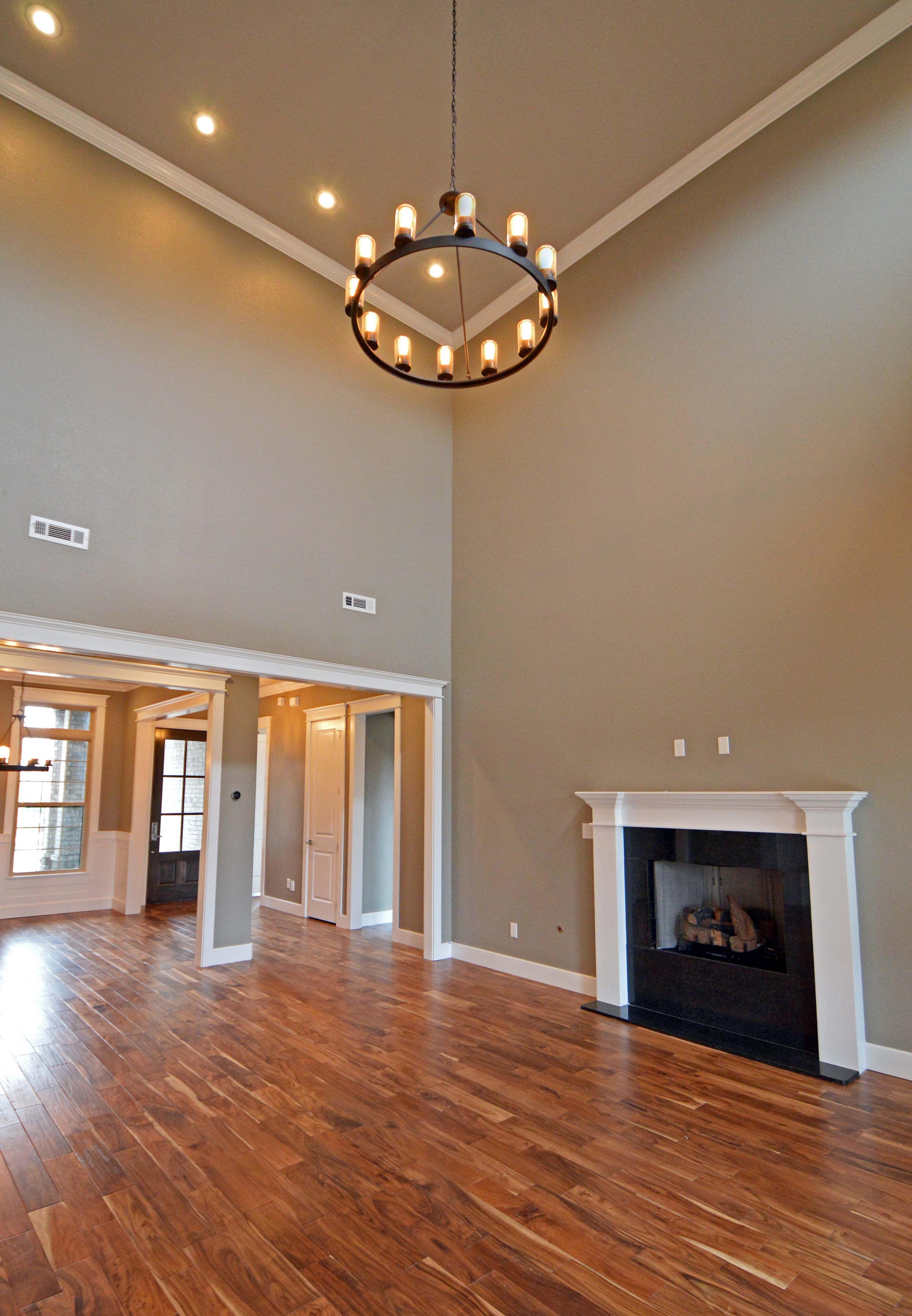 open floor plan featuring acacia wood floors and contemporary open floor plan featuring acacia wood floors and contemporary finishings