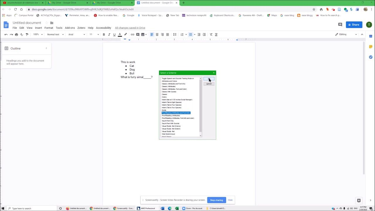 Making google docs read all attributes such as bold and