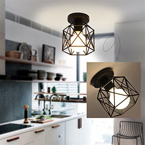 Marsbros Retro Vintage Industrial Mini Painting Metal Flush Mount Unique Dining Room Flush Mount Lighting Inspiration Design