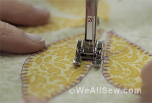 How to do applique stitch on sewing machine