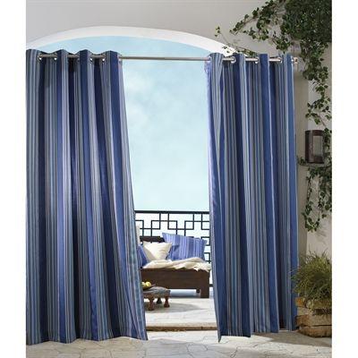 home fashions canada gazebo striped outdoor curtain panel