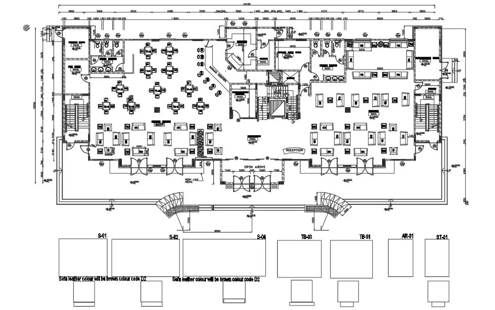 Download Fully furnished Hotel Ground Floor Plan AutoCAD File