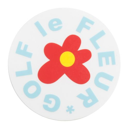 Golf Wang Golf Le Fleur Sticker In Red Stationery