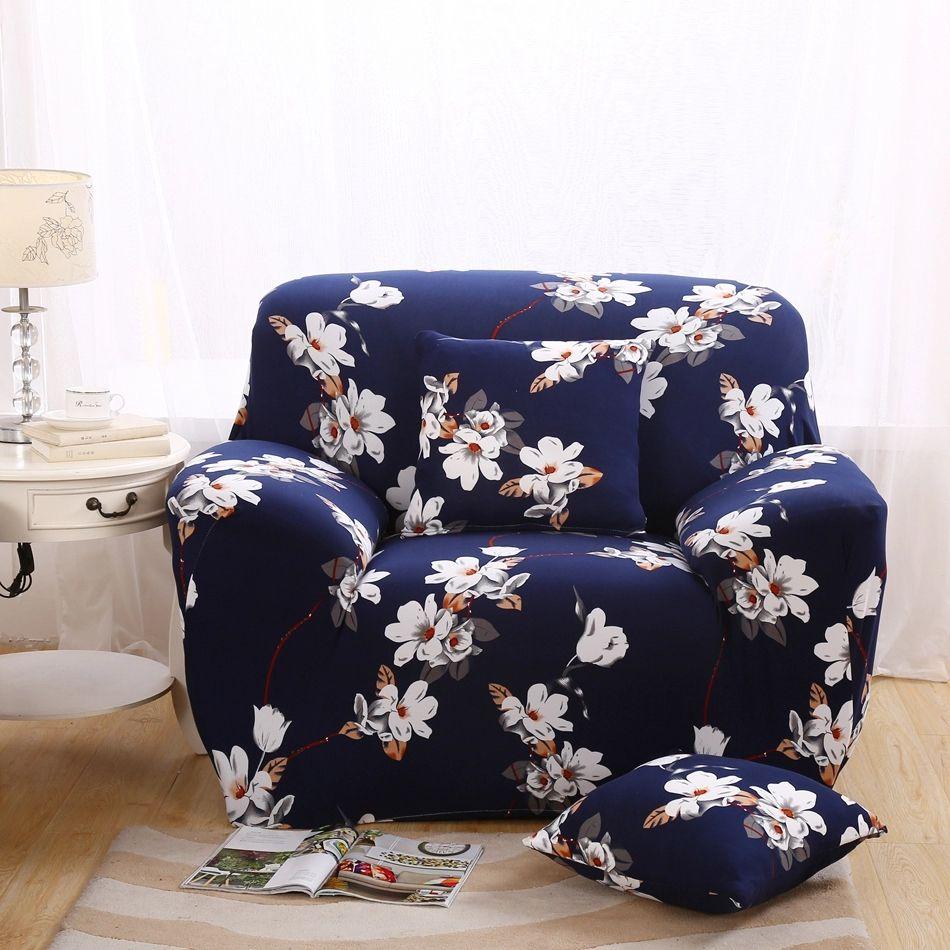 Dark Blue Elastic Sofa Cover Sofa Slipcover Multi Size Elastic