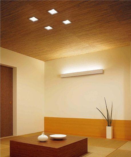 モダンな和室用の照明と床の間風クロス 和室 照明 モダン 和室