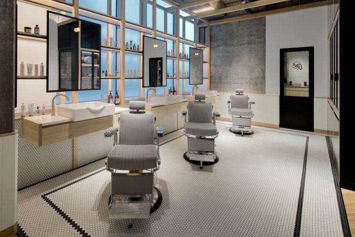 Akin barber shop by zak hoke dubai uae retail design for Salon de coiffure dubai