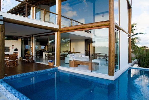 A arquitetura é impressionante para quem gosta da combinação.