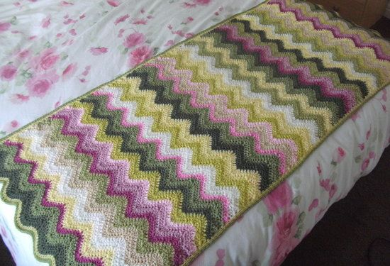 Ripple Crochet Bed Runner Running With The Devil