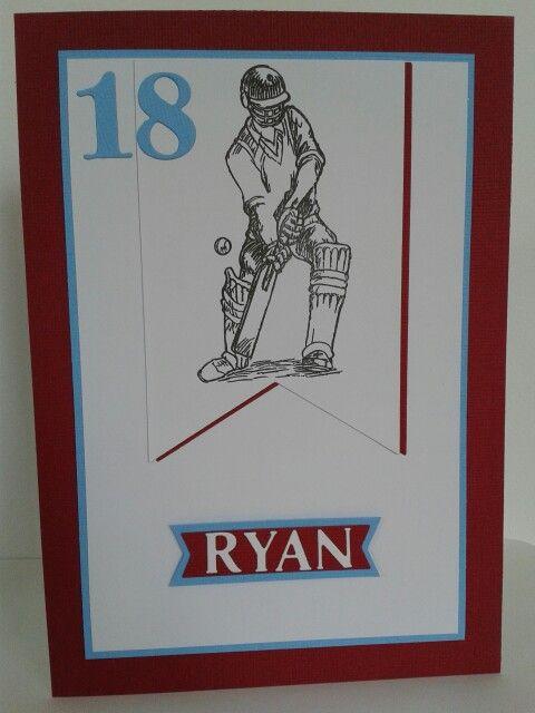 18th Birthday Card Cricket Theme In West Ham Colours Cross Stitch Cards 18th Birthday Cards Cards