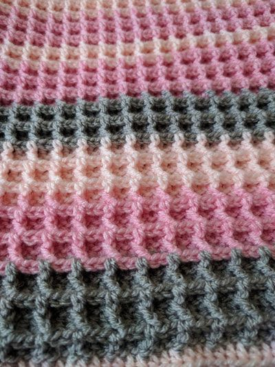 Waffle Stitch Blanket Free Crochet Pattern At Woolfull Crochet