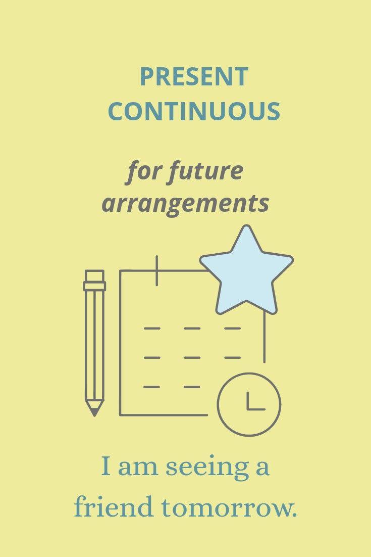 Present continuous for future arrangements   Continuity ...