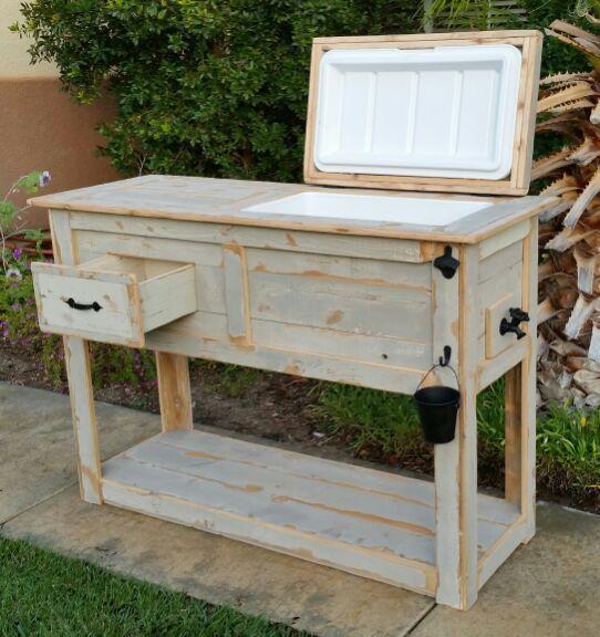 Rustic table cooler for Sale in Murrieta, CA   Repurposed ...