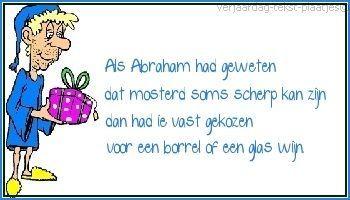 Populair Grappige verjaardagswens voor een 50 jarige Abraham   Teksten #BO58