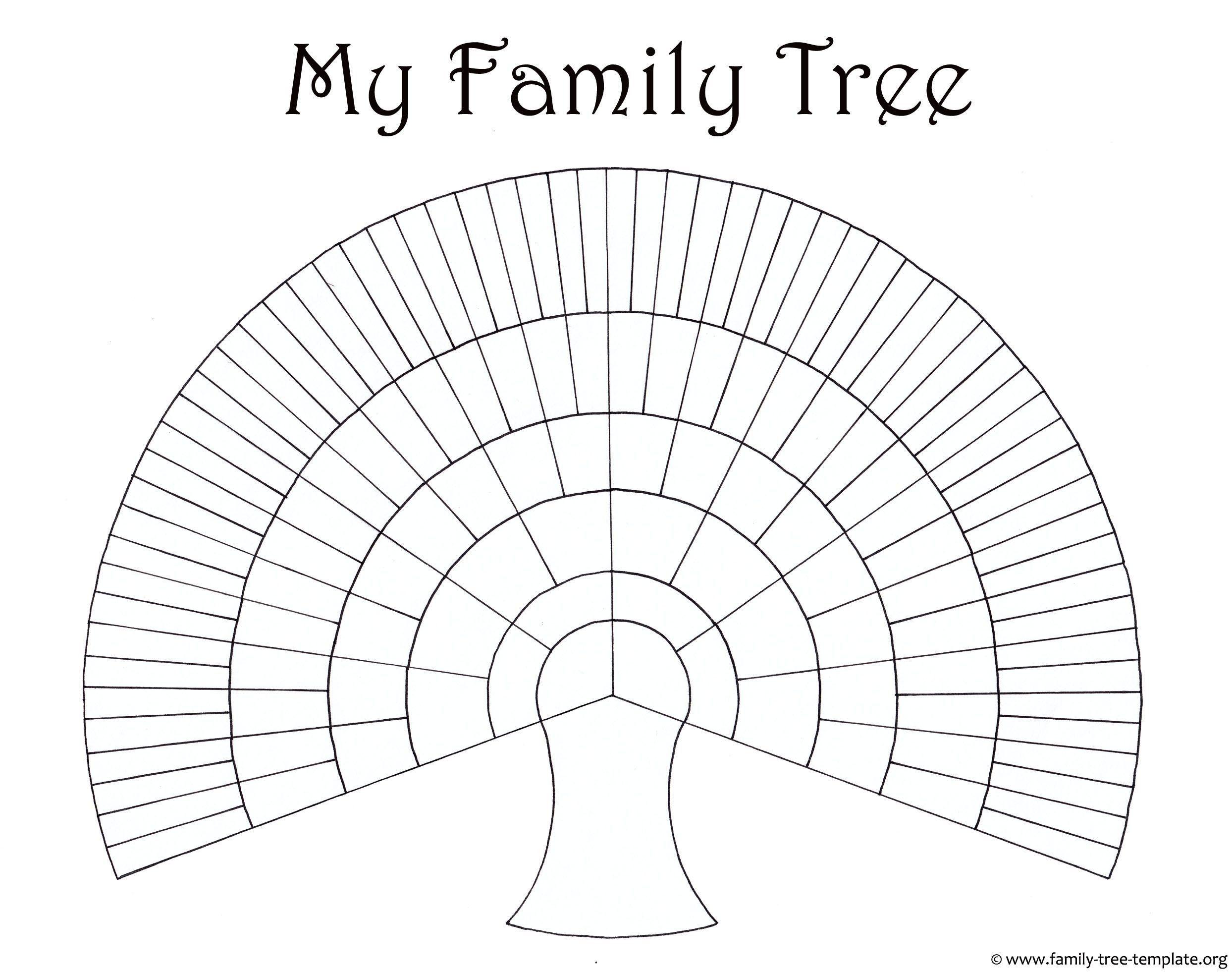 new blank family tree template  xls  xlsformat