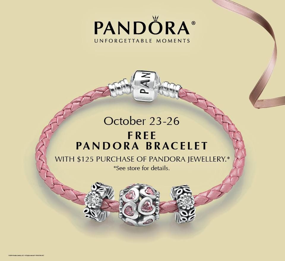 If You Would Like To Receive A Free Pandora Bracelet Visit Our During October