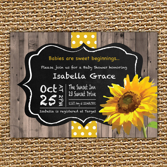 Hey i found this really awesome etsy listing at httpsetsy chalkboard birthday invitation fall baby shower sunflower by quax filmwisefo