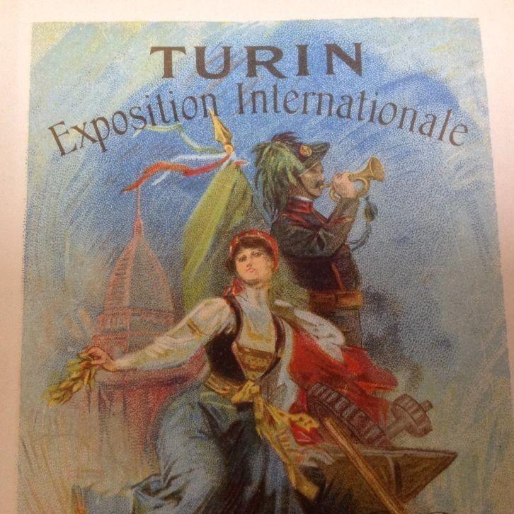 ORIGINAL JULES CHERET POSTCARD 1911 TURIN EXPO art nouveau
