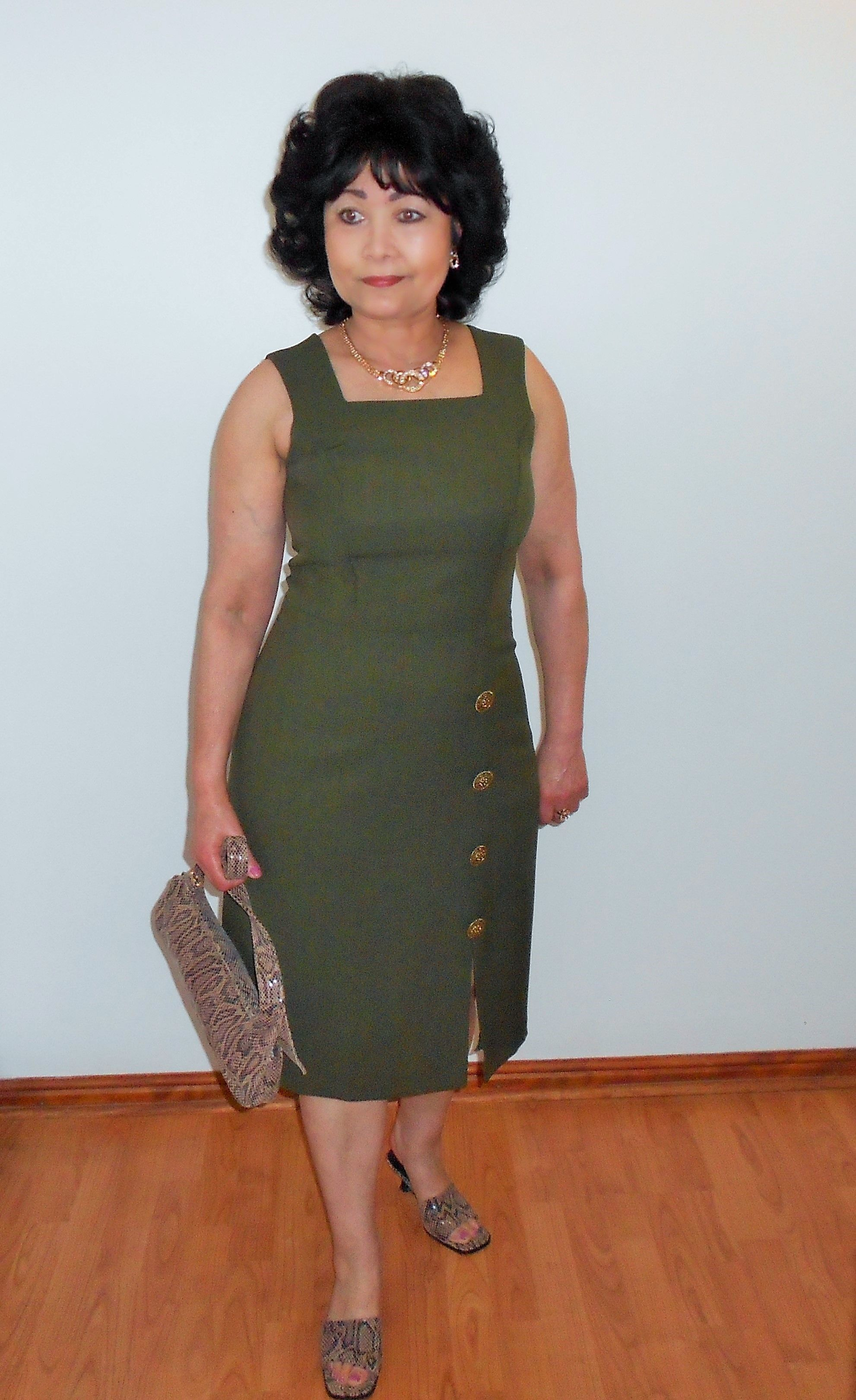Olive Green Square Neckline Dress Dresses Square Neckline Dress Summer Fashion Dresses [ 3240 x 1982 Pixel ]