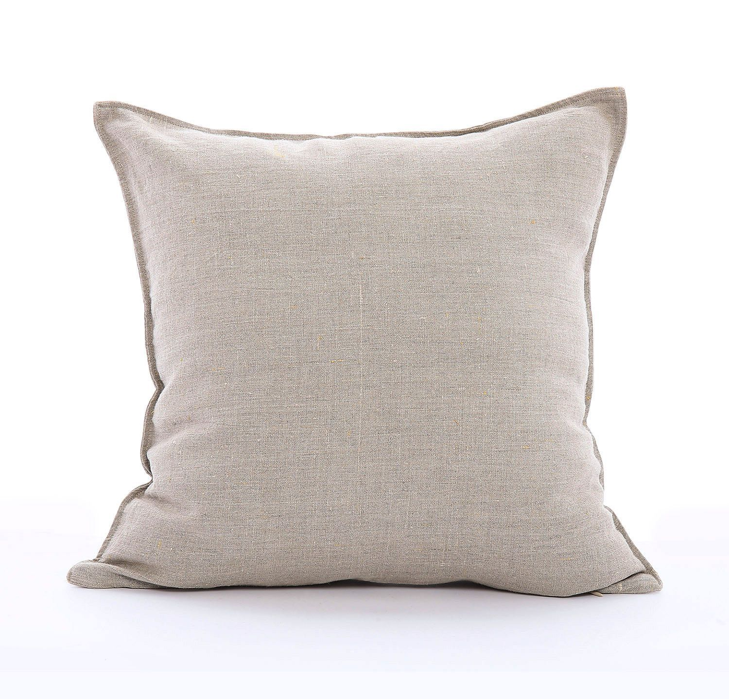 White Linen Pillow Cover Solid Pillow