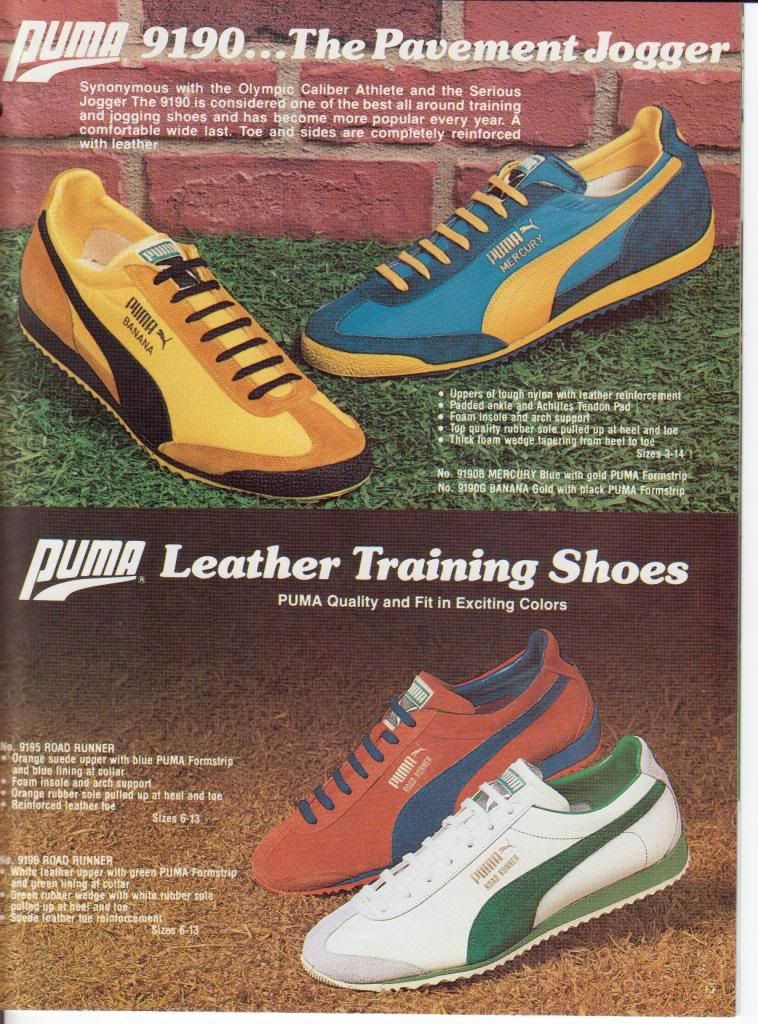 Nike / Puma / Adidas Catalogue Pics...1970s. 80's. | Sole