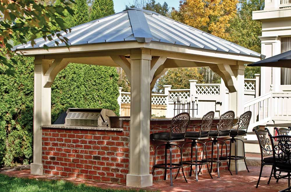 Image Of Pavilion Outdoor Chairs Backyard Backyard Pavilion Pergola