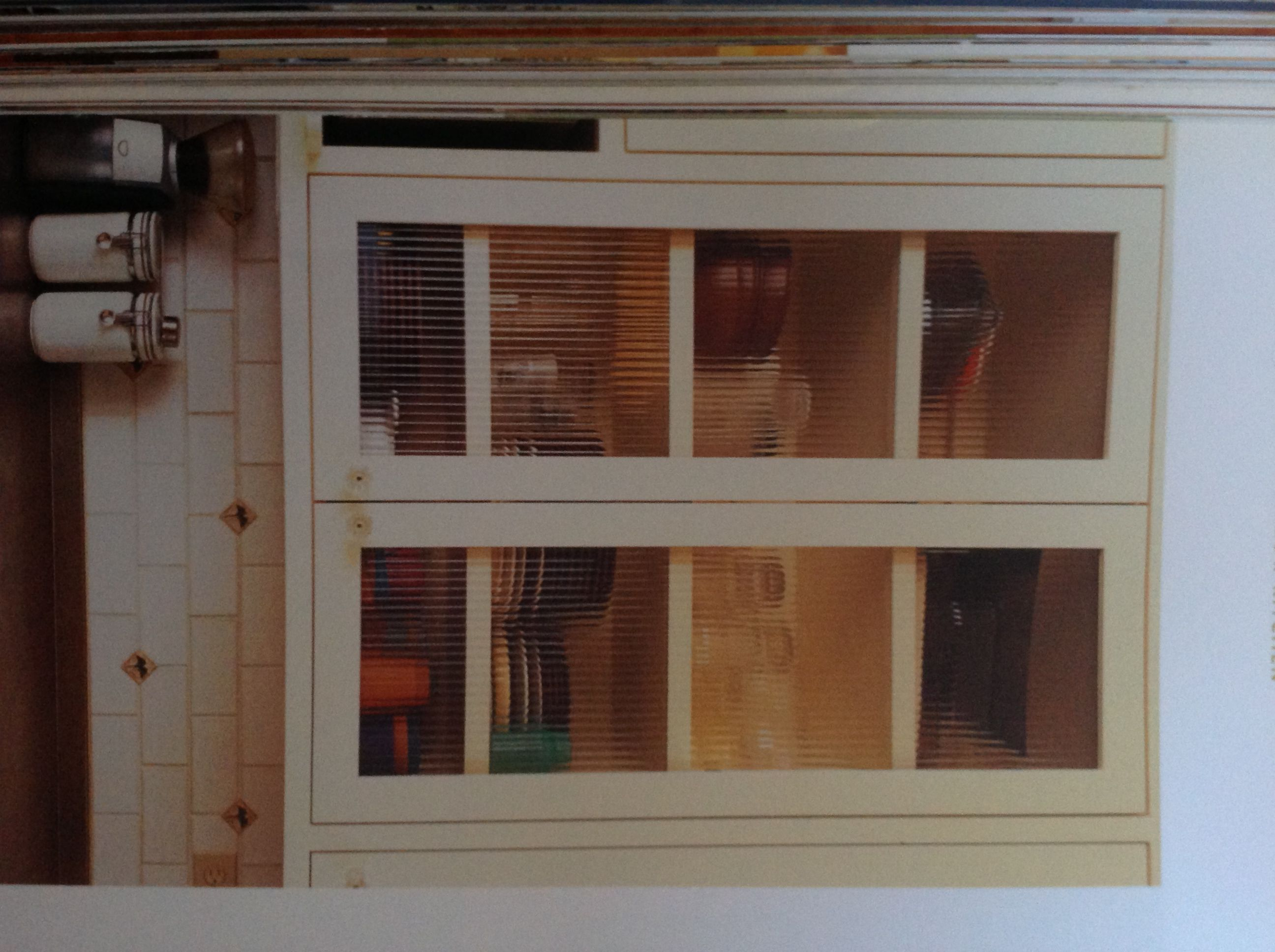 Ribbed glass panels cabinets | Glass panels, Home ...