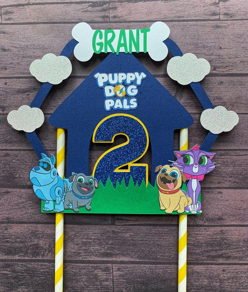 Puppy dog pals cake topper boy puppy dog pals birthday